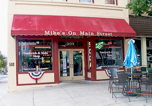 Mikes On Main Front Entrance.