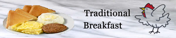 Traditional Breakfast Banner.