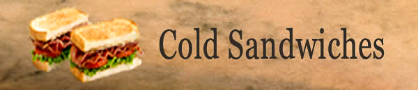 Cold Sandwiches Banner.