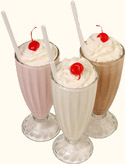 Picture of 3 Milkshakes.