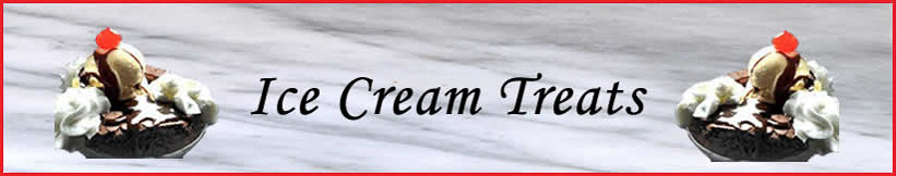 Ice Cream Treats Banner.